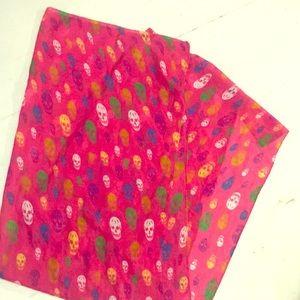Multicolored skull scarf